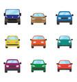 different transportation car sedan car hatchback vector image vector image