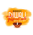 diwali watercolor template for festival sale vector image vector image