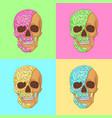 donut skull art graphic pop art vector image vector image