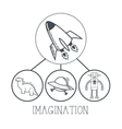Doodle icon design imagination icon draw concept vector image vector image