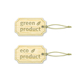 Eco tags set 15 vector image vector image