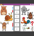 educational task with big and small animal species