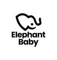 elephant balogo icon vector image