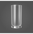 empty realistic drinking glass on vector image vector image