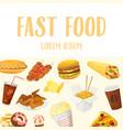 fast food menu or restaurant background vector image vector image