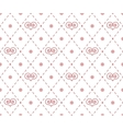 Geometrical pattern with abstract hearts vector image