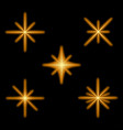 glowing light effect stars bursts with sparkles vector image