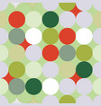green and red christmas circles seamless pattern vector image vector image