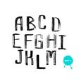 Grunge uneven handwritten alphabet set 1 vector image vector image