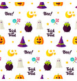 halloween treat seamless pattern vector image vector image