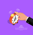 hand of the businessman vector image