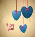 Happy Valentines Day Paper retro hearts vector image vector image