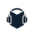 headphones and audio book icon vector image