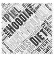Hoodia diet pills Word Cloud Concept vector image vector image