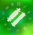 icons for longboard and accessories vector image