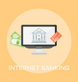 internet banking colored vector image vector image