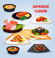 japanese cuisine popular dishes for lunch icon vector image vector image