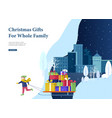 landing page template greeting card winter vector image