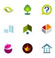 logo design elements set 34 vector image vector image