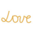 love from chain vector image
