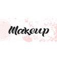 makeup black text vector image