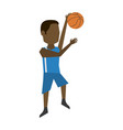 male basketball player cartoon vector image vector image