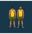 men in shorts and singlet vector image vector image