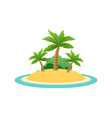 nature landscape of tropic island with sand beach vector image vector image