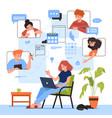 online meeting design vector image vector image