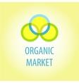 Organic market logo vector image