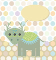 Polka dot background pattern Funny cute monster vector image