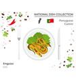 portuguese cuisine european national dish vector image