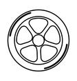 Racing motorsport symbol vector image vector image