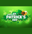 realistic stpatricks day background and banner vector image