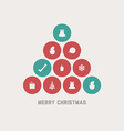 retro christmas tree vector image vector image