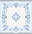 Scandinavian style cross stitch pattern vector image vector image