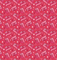 seamless pattern for Valentines Day postcards or vector image vector image
