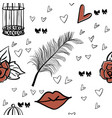 seamless romantic patter vector image vector image