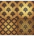 Set of Seamless Pattern In Damask style vector image vector image