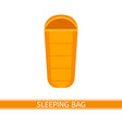 sleeping bag icon vector image vector image