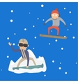 Snowboarder jump in different pose vector image vector image