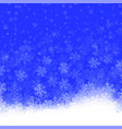 snowflakes pattern on blue background winter vector image