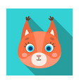 squirrel muzzle icon in flat style isolated on vector image vector image