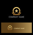 star shape emblem gold logo vector image