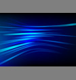 streak speed blue line background motion vector image vector image
