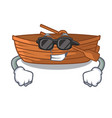 super cool wooden boats isolated with the cartoons vector image