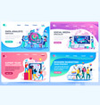 website tutorial templates vector image vector image