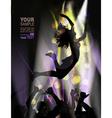 Woman dancing in club vector image vector image