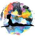 women silhouettesphinx yoga pose salamba vector image vector image