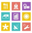 Color icons for Web Design set 50 vector image